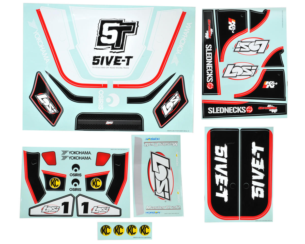 Losi Sticker & Graphic Sheet Set (White)