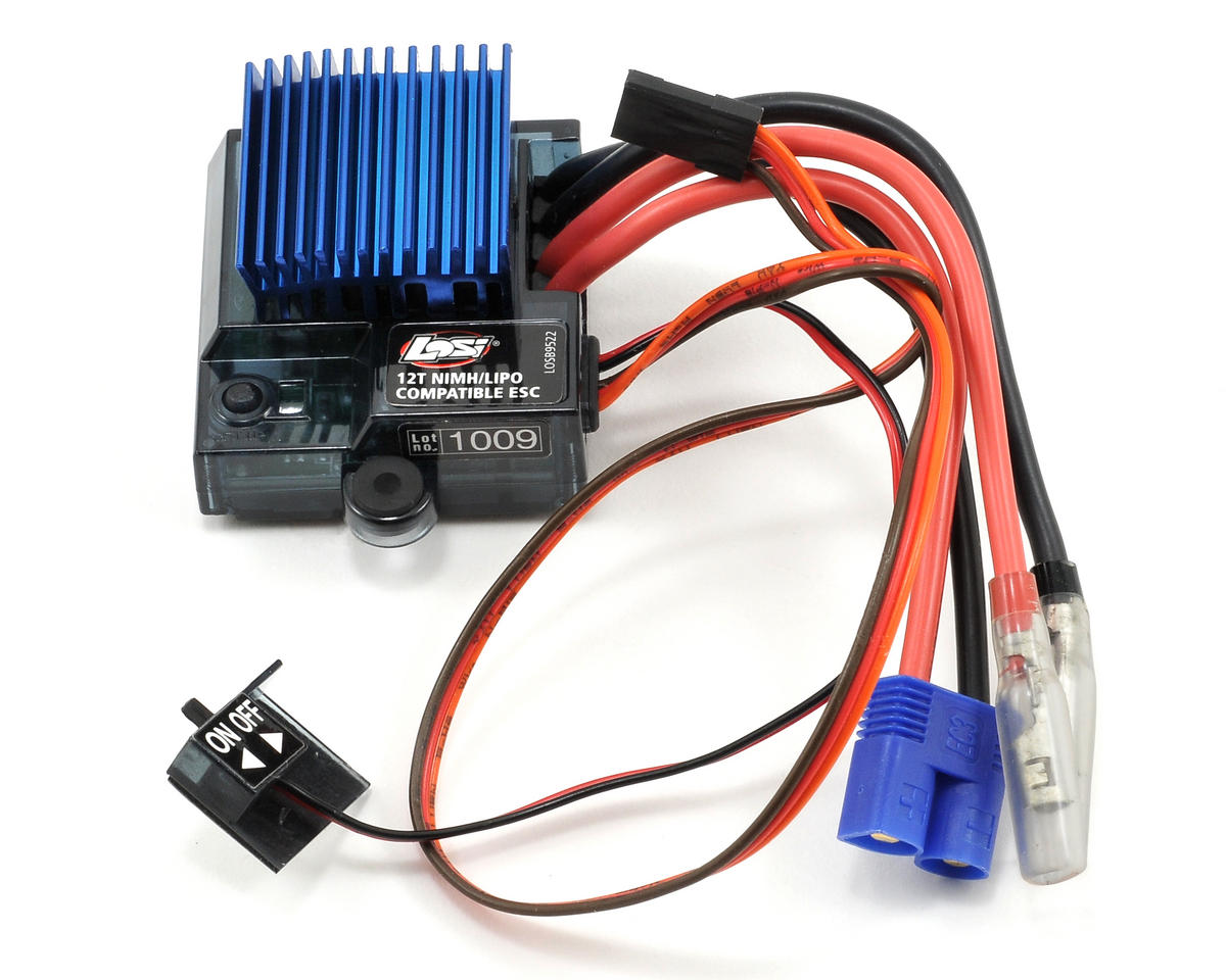 Losi MSC12L 4 Model Forward/Reverse Brushed Motor ESC w/LiPo Cutoff