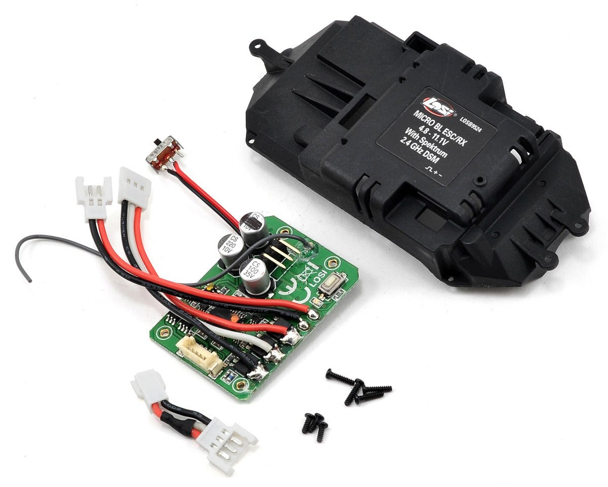 Losi Micro-HIGHroller Micro 2.4GHz ESC/Receiver Conversion