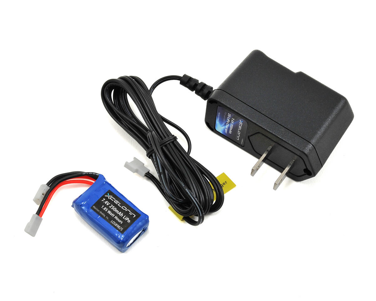 Losi Micro Rally Car LiPo Charger & 2S Battery Combo (7.4V/250mAh)