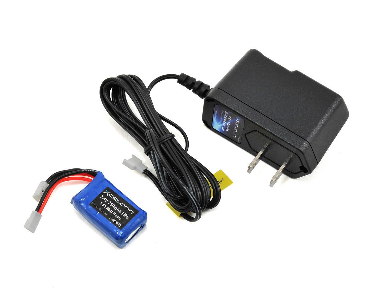 Losi LiPo Charger & 2S LiPo Battery Combo (7.4V/250mAh)