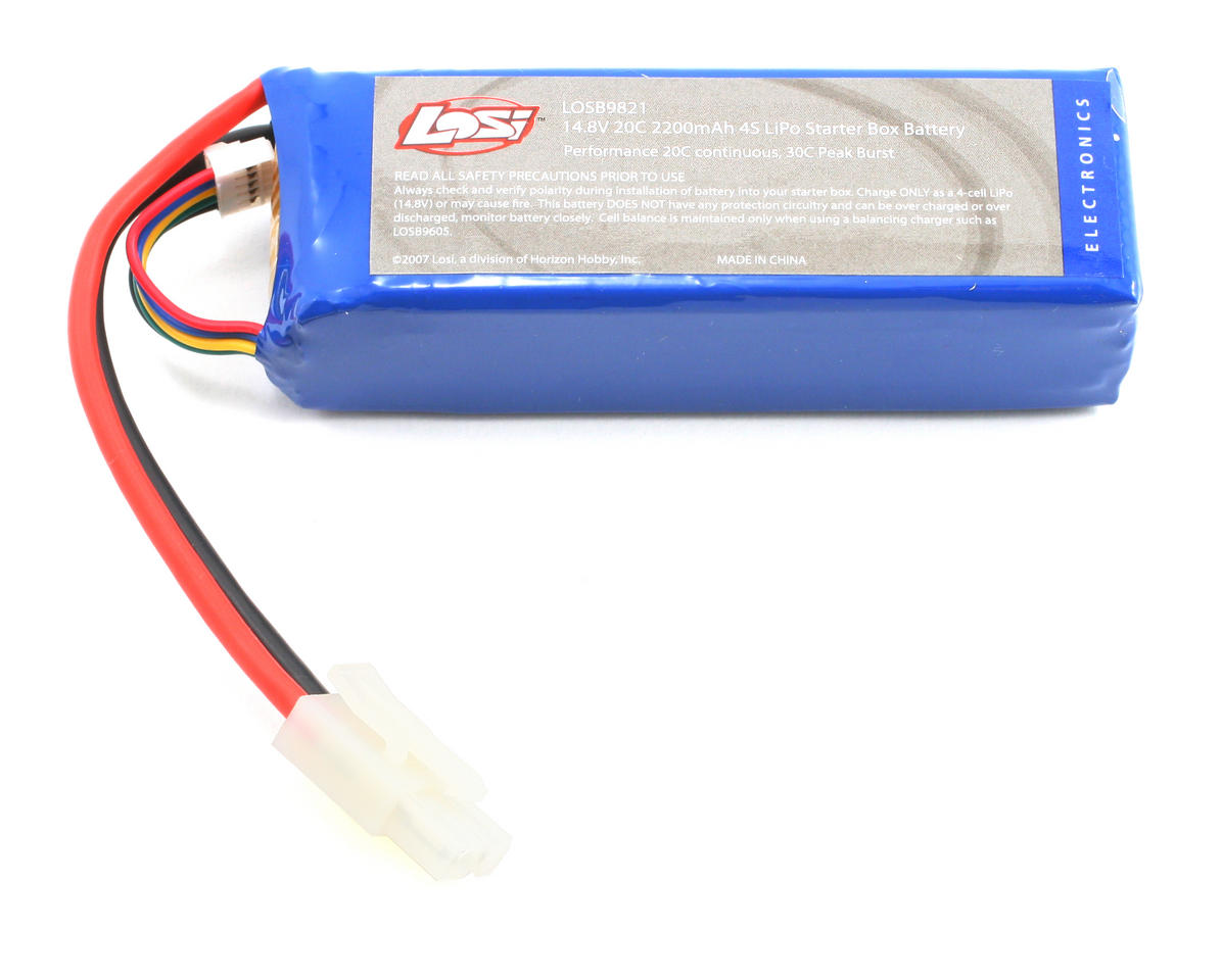 Losi 4S Li-Poly Starter Box Battery Pack 20C (14.8V/2200mAh)