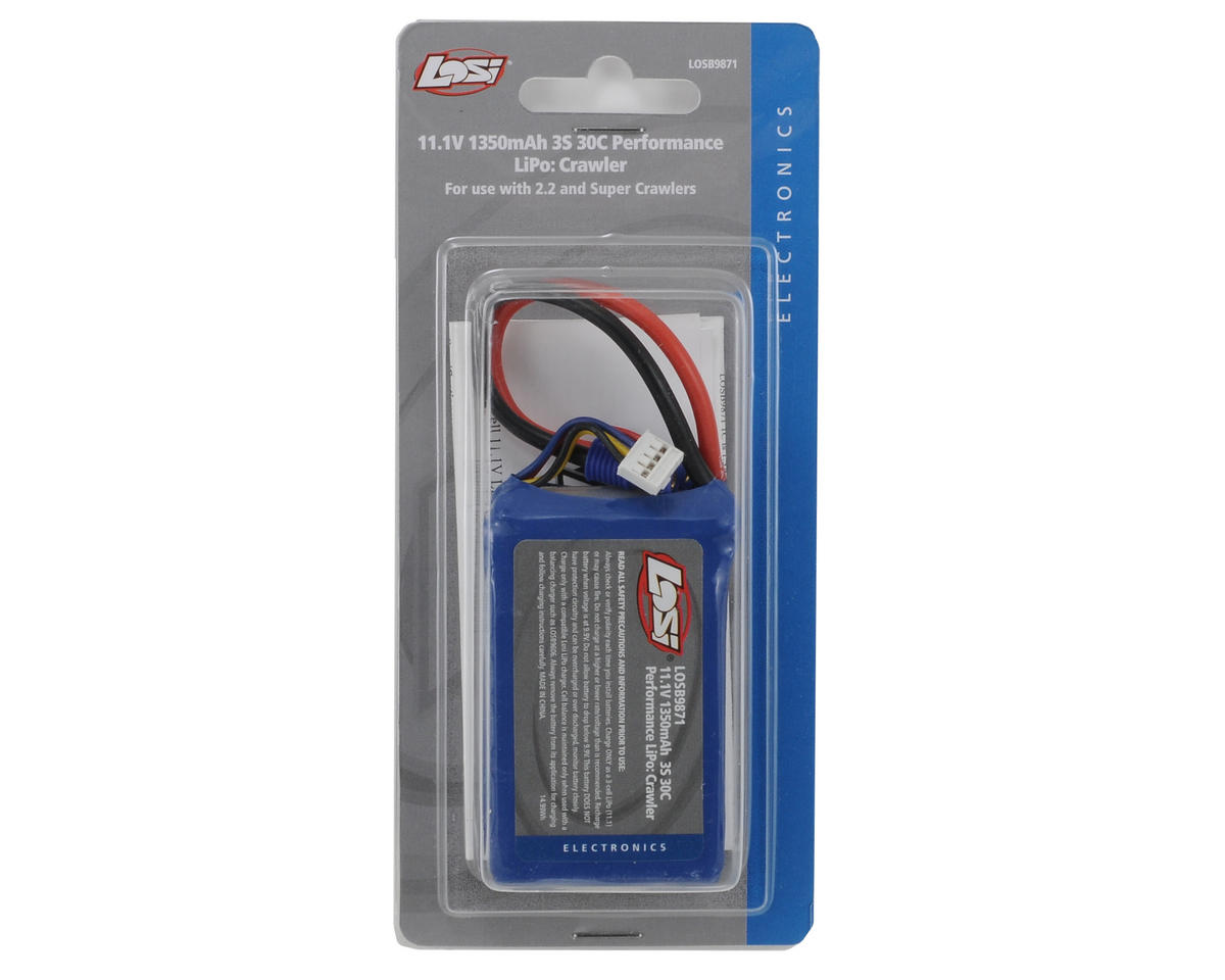 Losi 3S 30C Li-Poly Rock Crawler Battery Pack (11.1V/1350mAh)