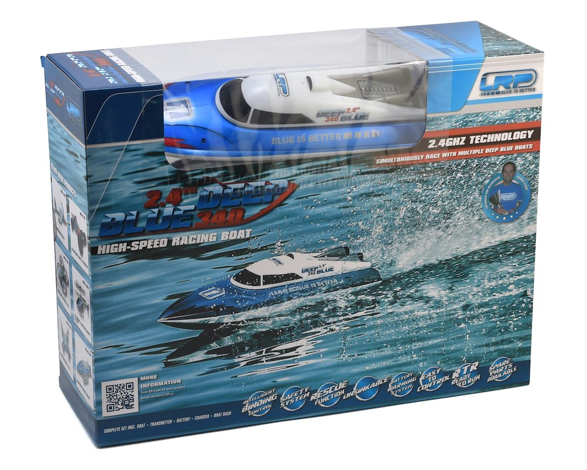 LRP Deep Blue 340 RTR High-Speed Racing Boat w/2 4GHz Radio System, Battery  & Charger