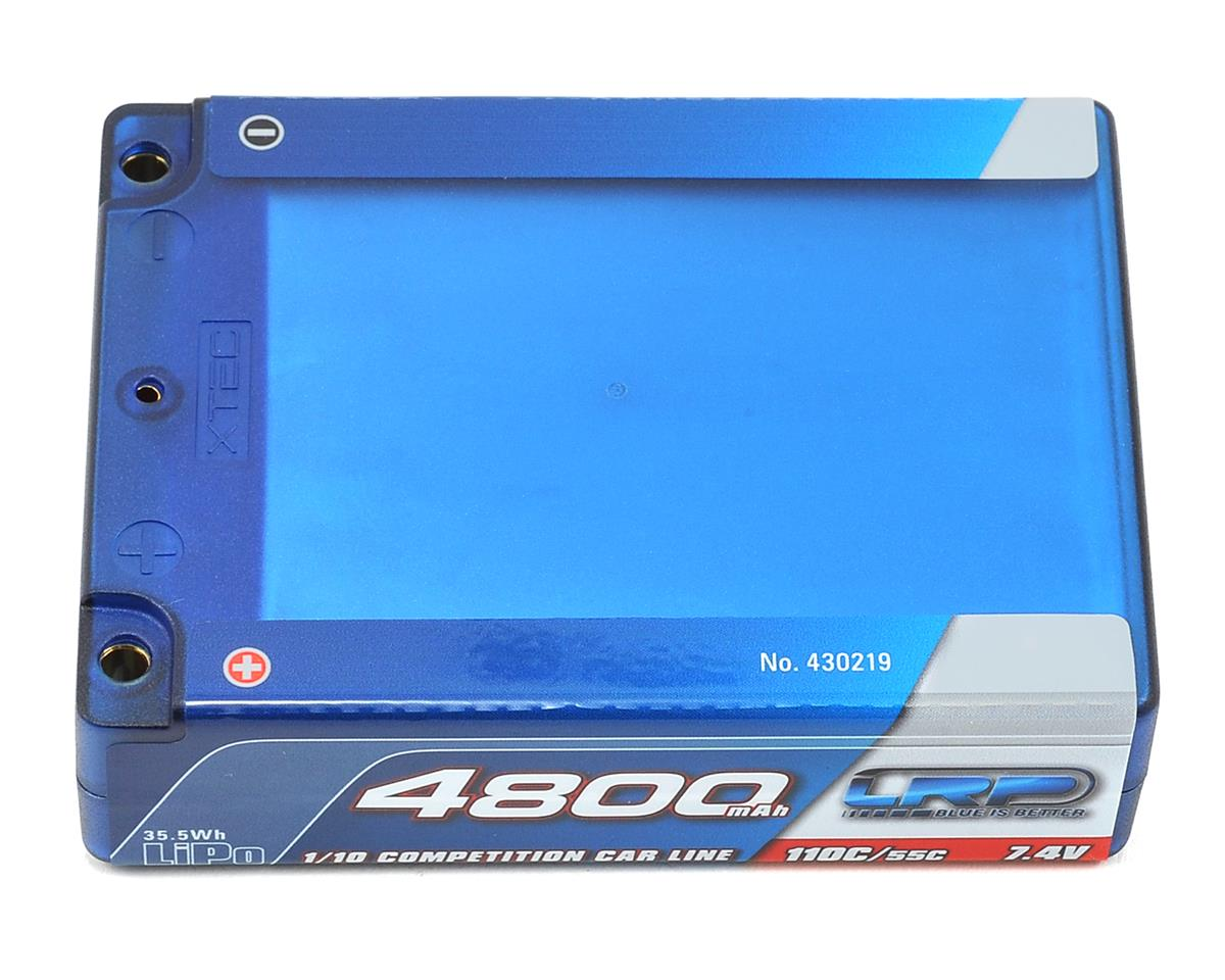 LRP Competition 2S LiPo 55C Hard Case Square Battery Pack (7.4V/4800mAh)