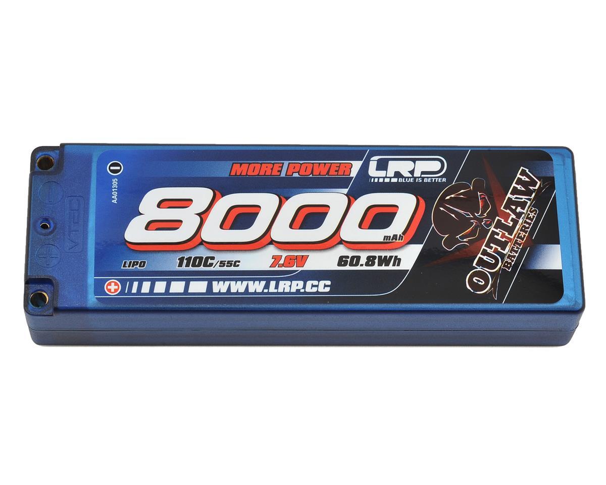 LRP Outlaw 2S LiPo 55C Hard Case Battery Pack (7.6V/8000mAh)