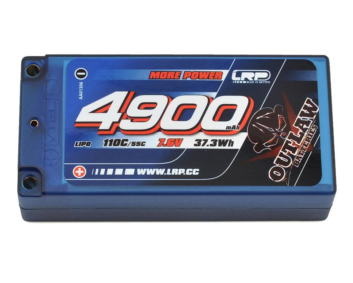 LRP Outlaw 2S LiPo 55C Hard Case Shorty Battery Pack (7.4V/4900mAh)