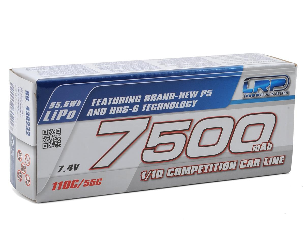 Big Mama P5 2S LiPo 55C Hard Case Battery Pack (7.4V/7500mAh) by LRP