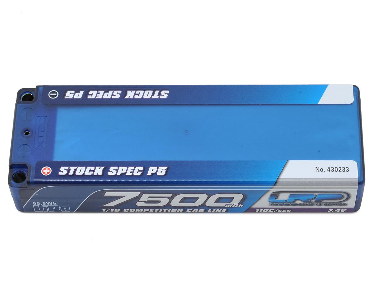 LRP TC Stock Spec P5 2S LiPo 55C Hard Case Battery Pack (7.4V/7500mAh)