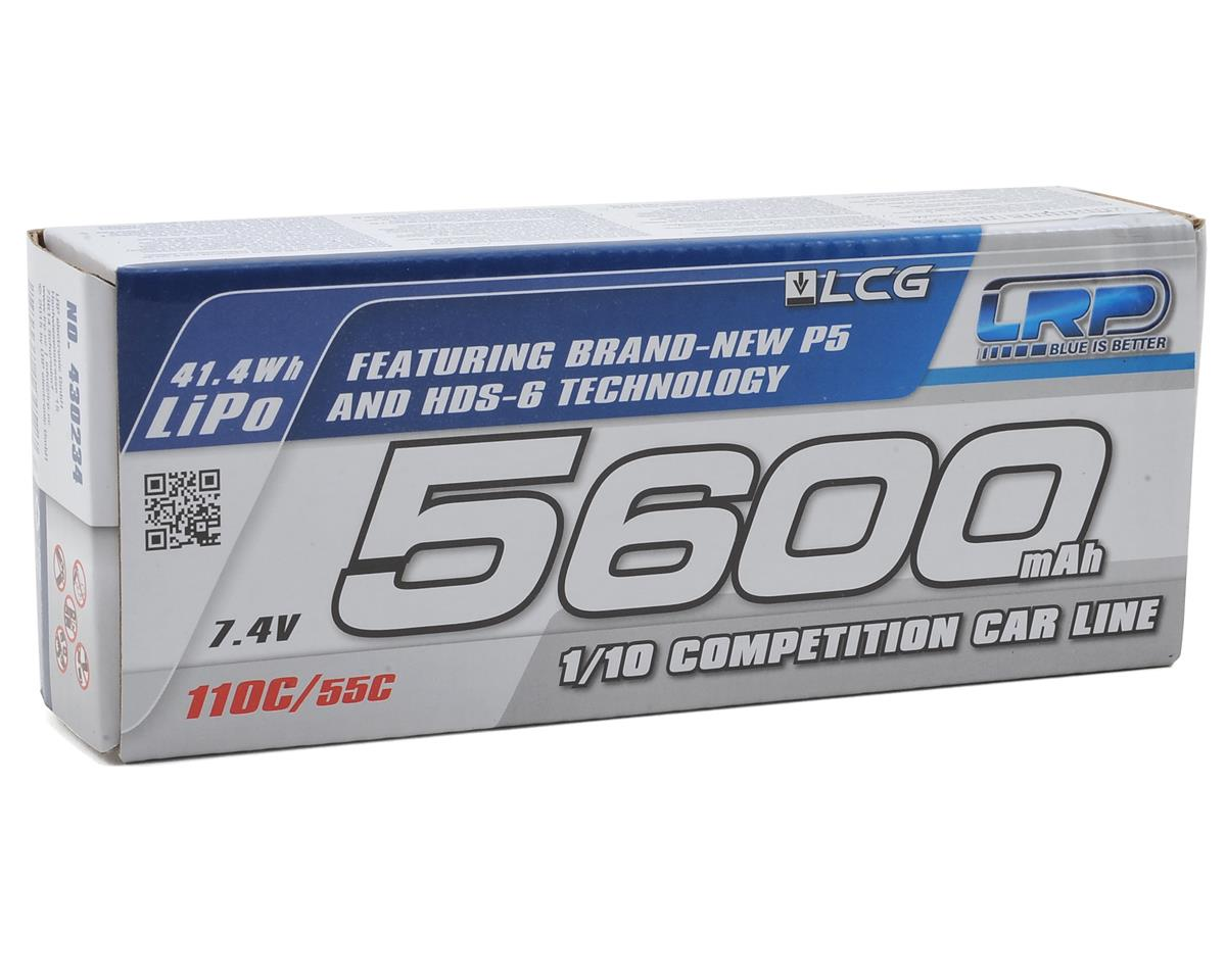 LRP TC LCG P5 2S LiPo 55C Hard Case Battery Pack (7.4V/5600mAh)
