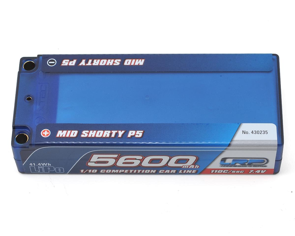 LRP TC Mid Shorty P5 2S LiPo 55C Hard Case Battery Pack (7.4V/5600mAh)