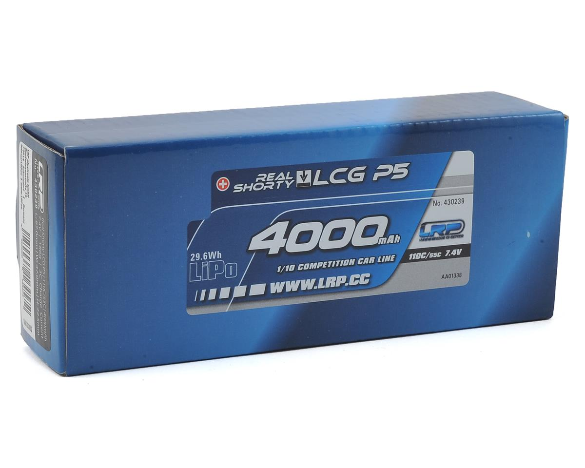 LRP Real Shorty LCG P5 2S LiPo 55C Hard Case Battery Pack (7.4V/4000mAh)