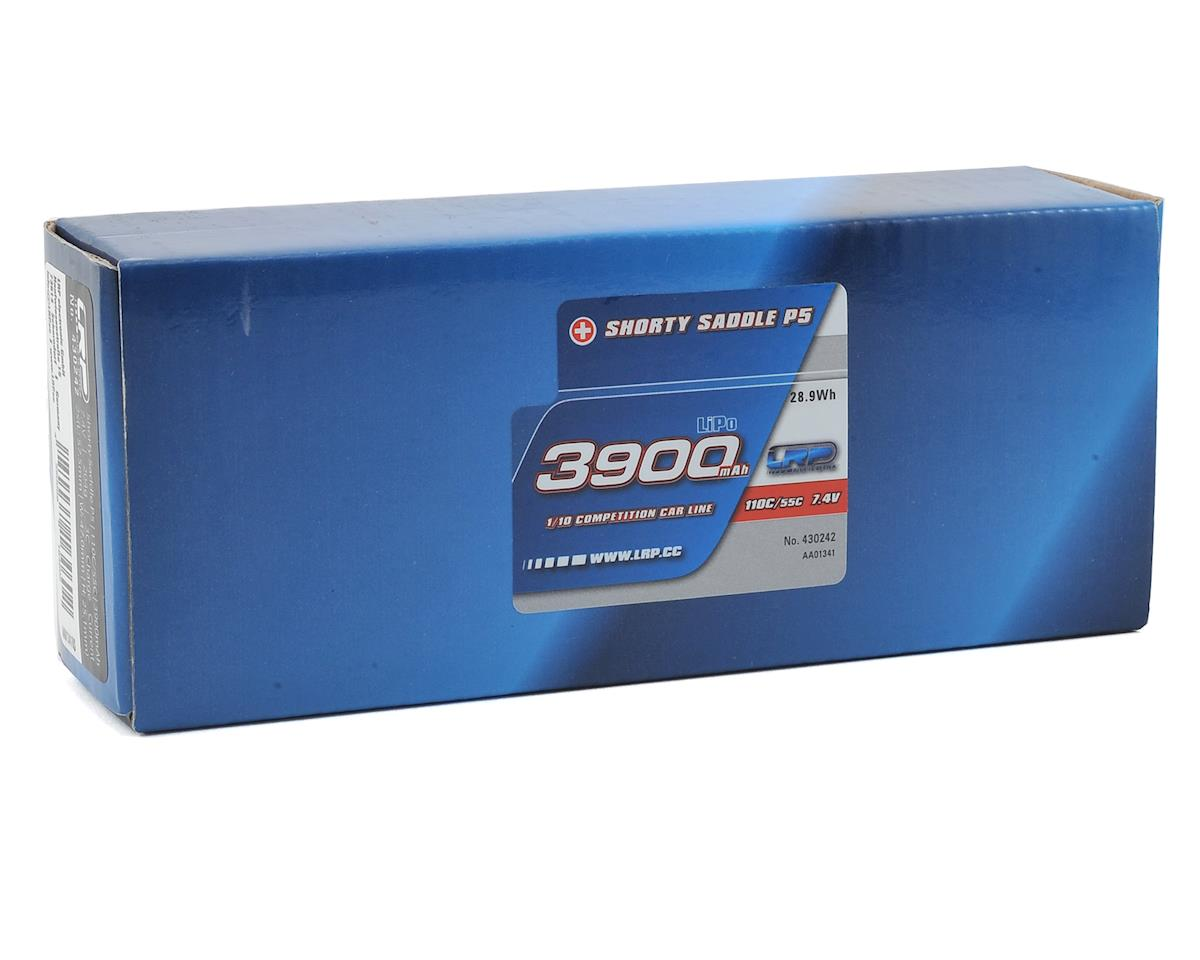 LRP Shorty Saddle P5 2S LiPo 55C Hard Case Battery Pack (7.4V/3900mAh)