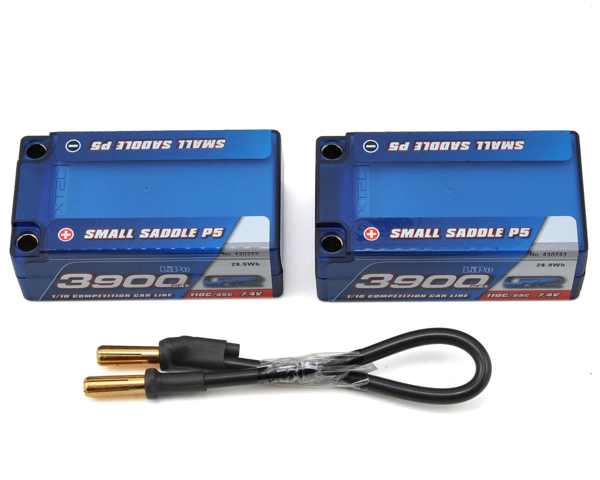 LRP Small Saddle P5 2S LiPo 55C Hard Case Battery Pack (7.4V/3900mAh)