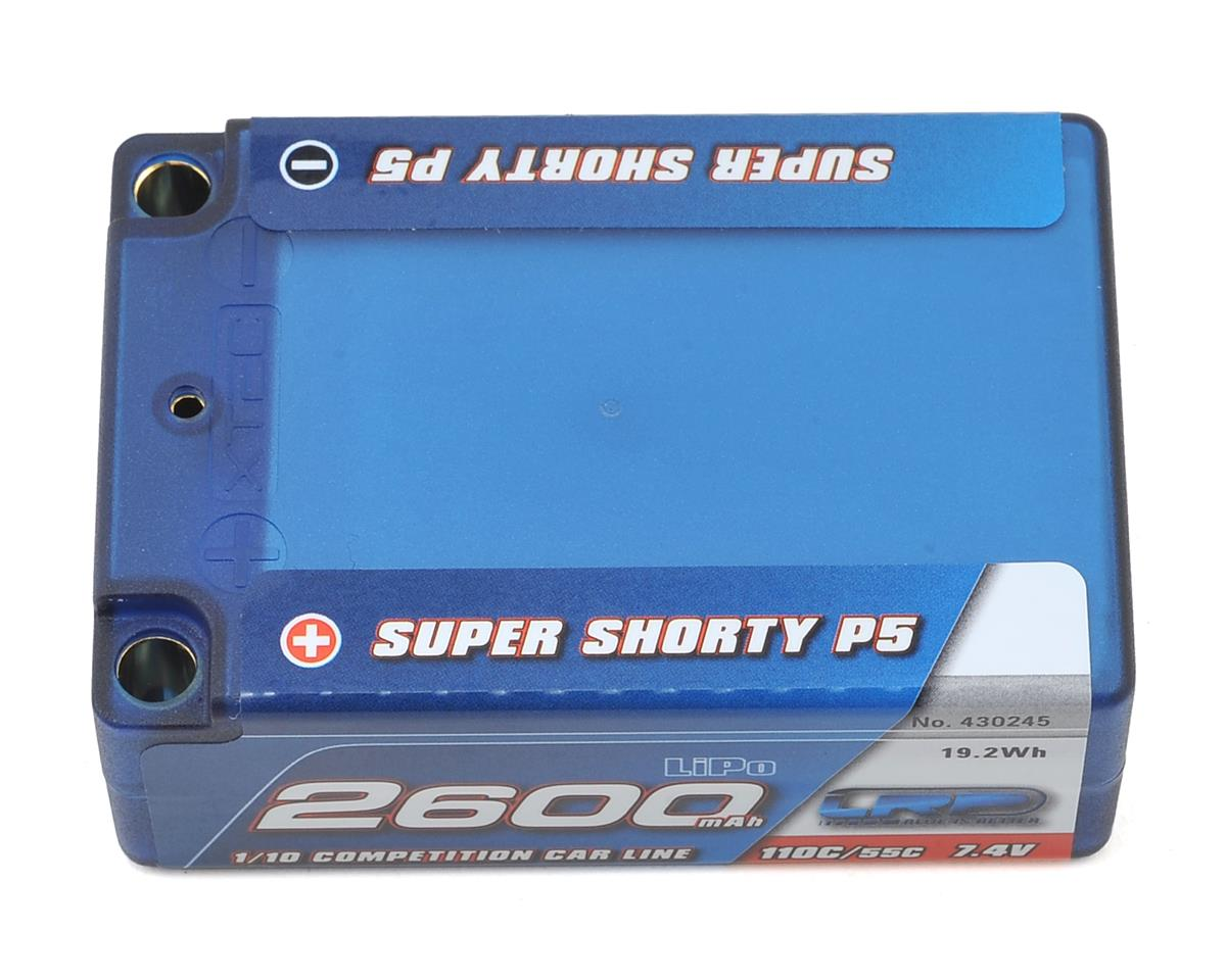 LRP Super Shorty P5 2S LiPo 55C Hard Case Battery Pack (7.4V/2600mAh)