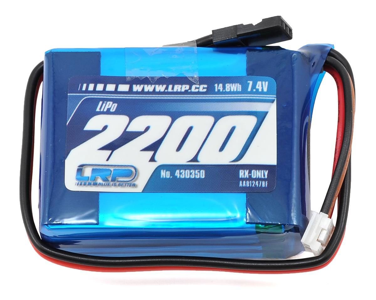 SCRATCH & DENT: LRP VTEC 2S LiPo Hump Receiver Battery Pack (7.4V/2200mAh)