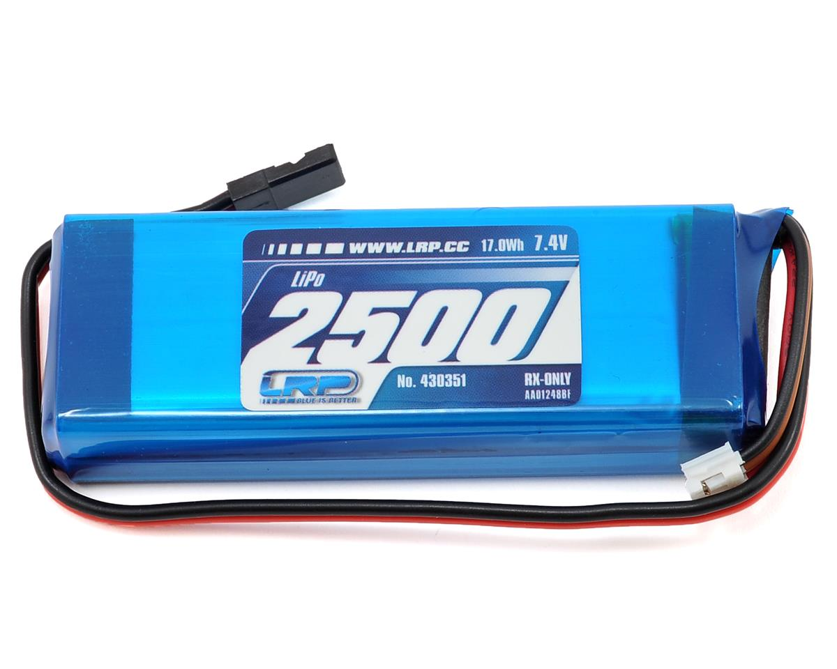 LRP VTEC 2S LiPo Flat Receiver Battery Pack (7.4V/2500mAh)
