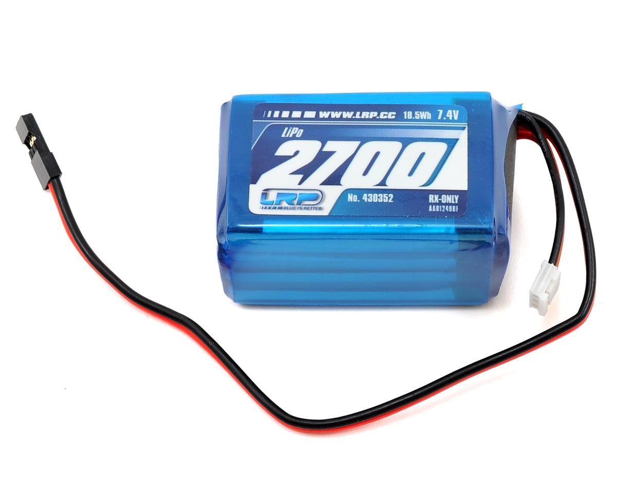 LRP VTEC 2S LiPo Hump Receiver Battery Pack (7.4V/2700mAh)