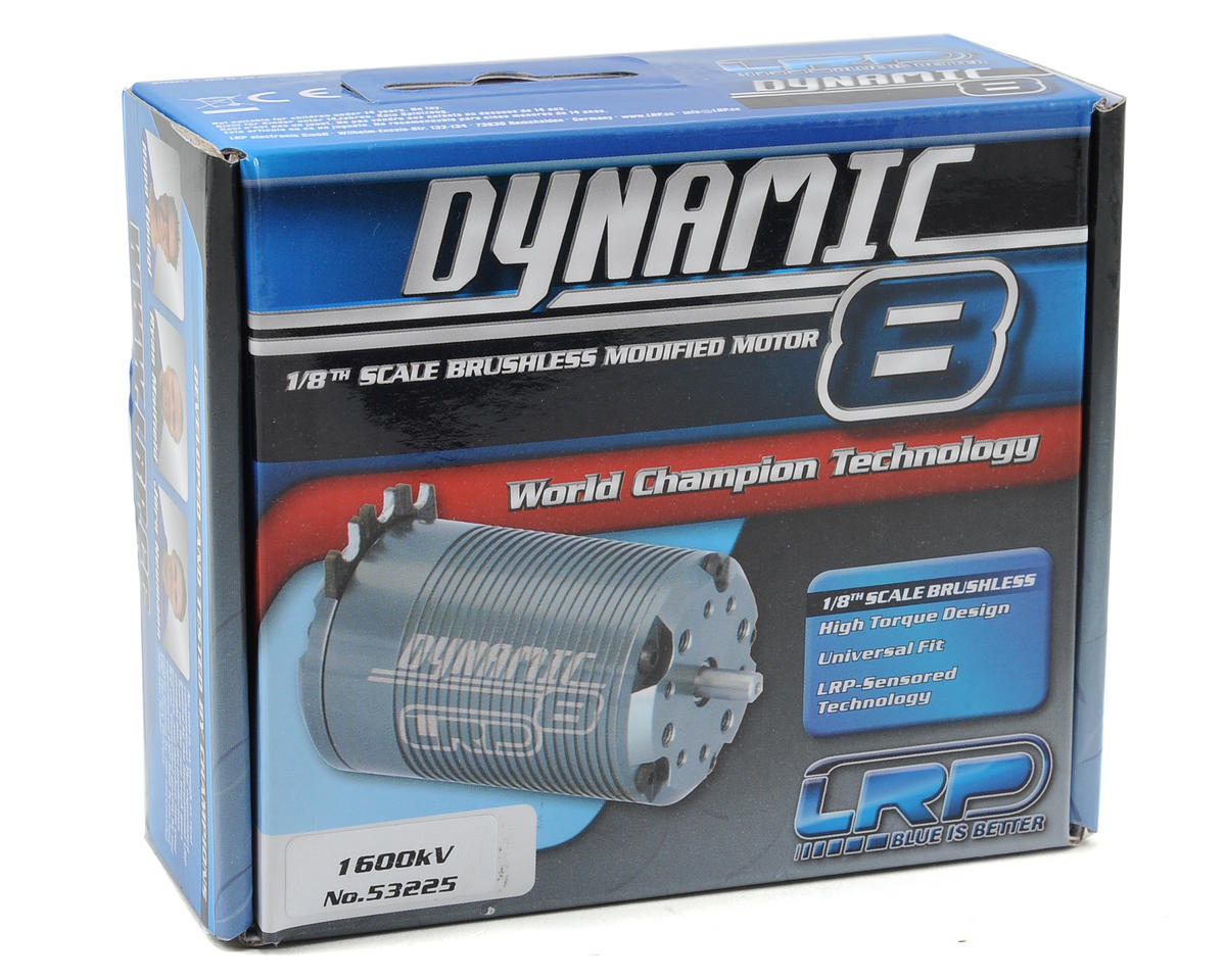 LRP Dynamic 8 Competition 1/8th Scale Brushless Motor (1600kV)