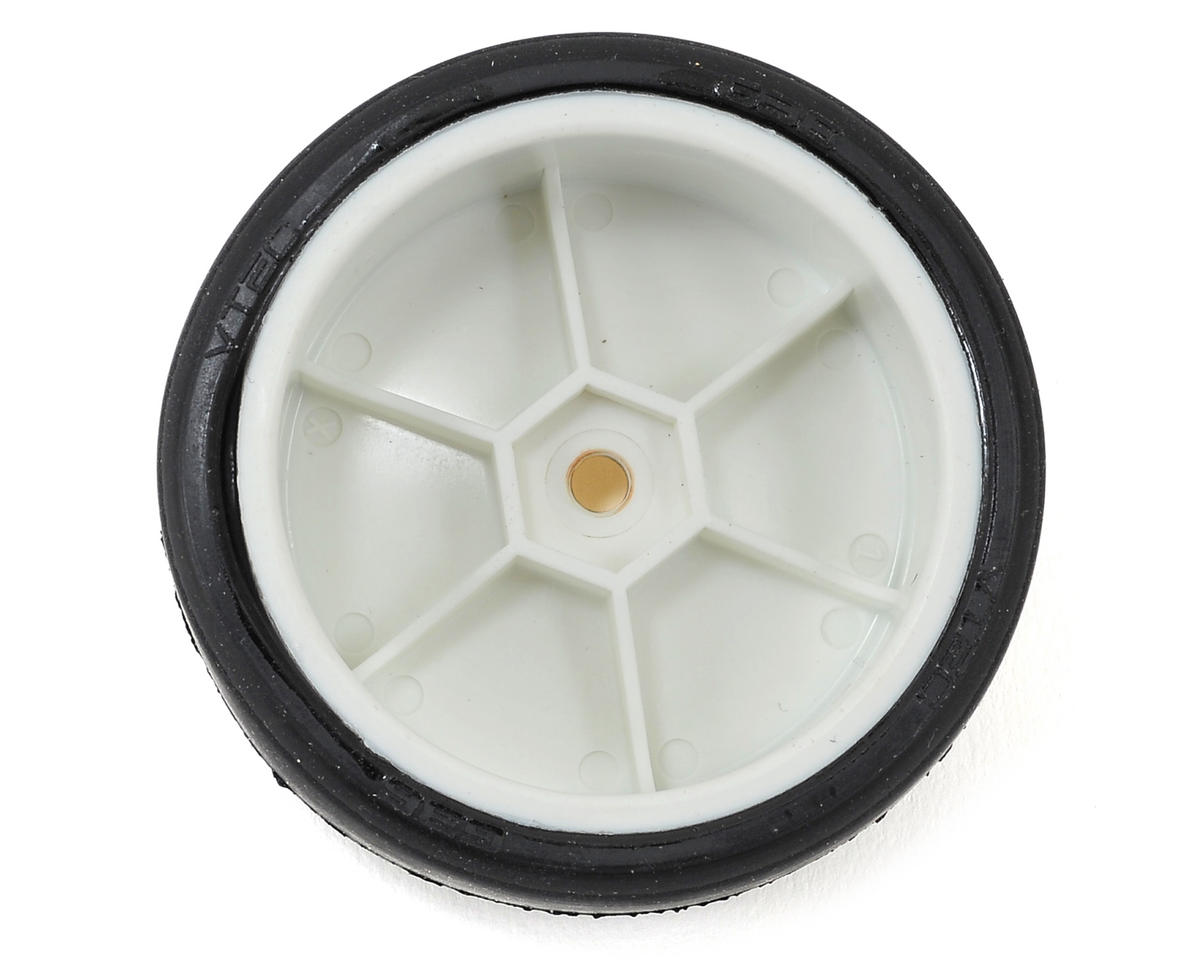LRP 12mm Hex VTEC Pre-Mounted Asphalt Racing Tires (4) (White) (G32)