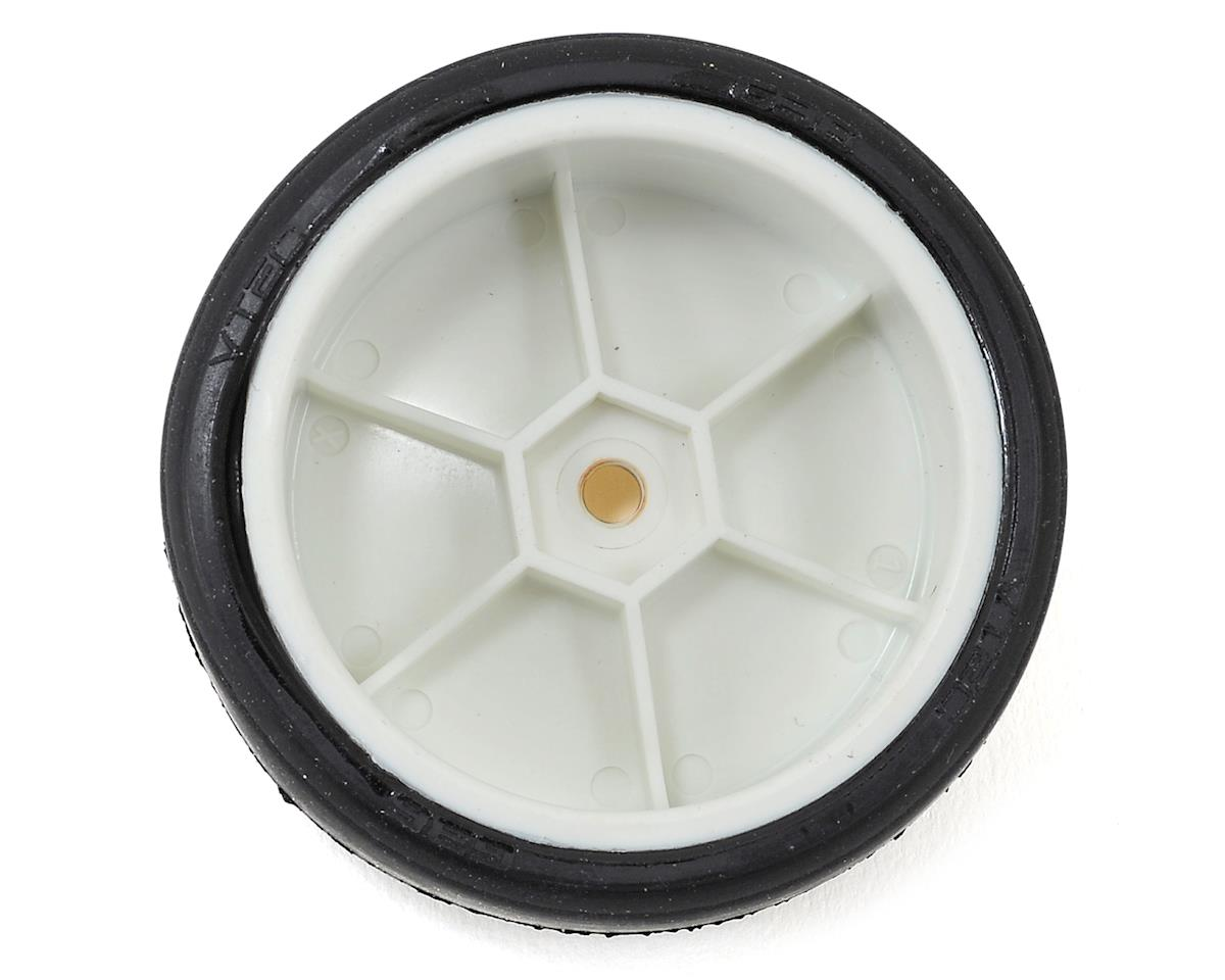 LRP 12mm Hex VTEC Pre-Mounted Asphalt Racing Tires (4) (White) (G36)