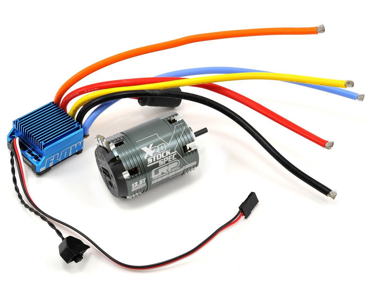 """LRP """"Flow"""" WorksTeam ESC & Vector X20 StockSpec Brushless Motor Combo (13.5T)"""