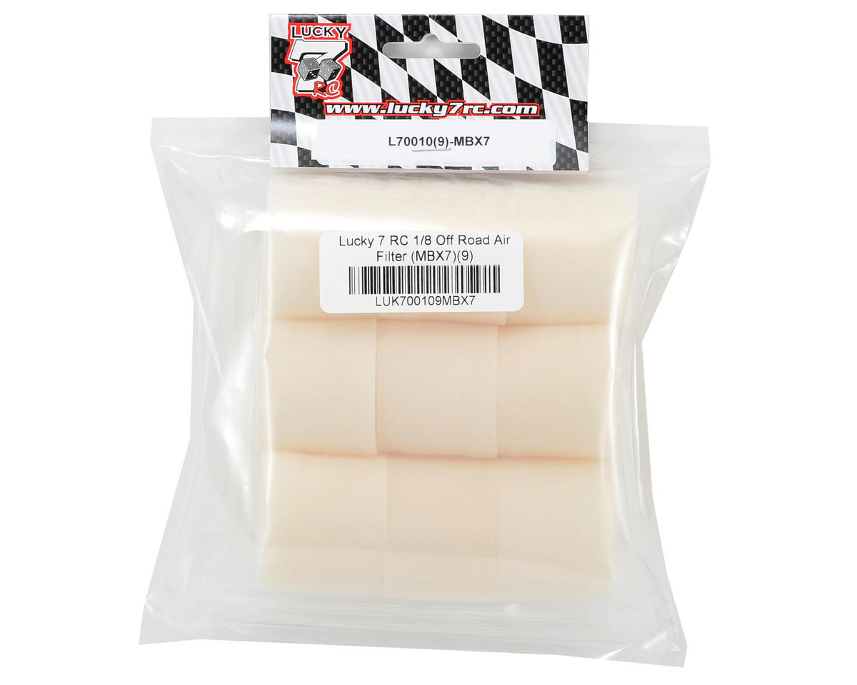 Lucky 7 RC 1/8 Off Road Air Filter (MBX7) (9)
