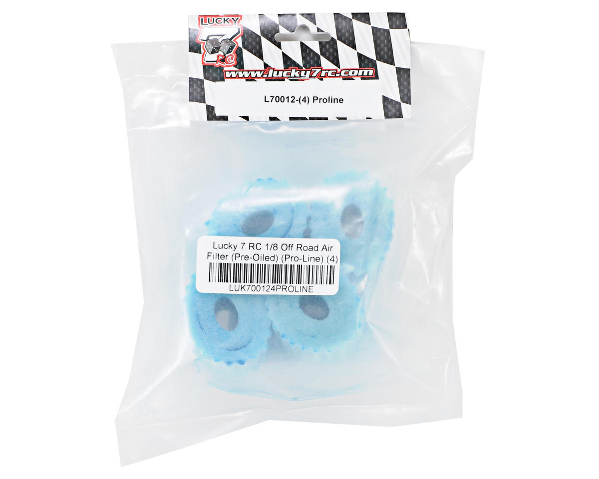 Lucky 7 RC 1/8 Off Road Air Filter (Pre-Oiled) (Pro-Line) (4)