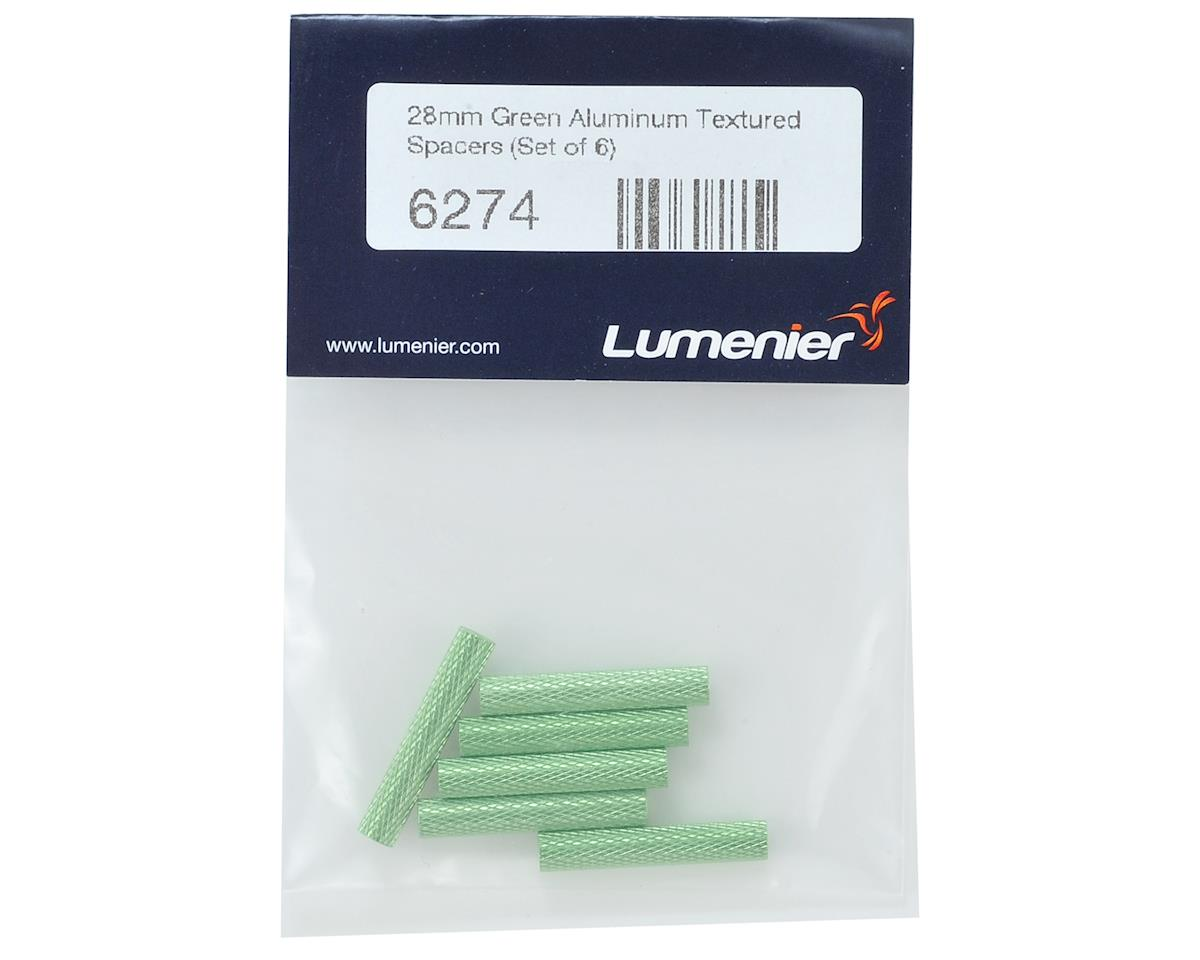 Lumenier 28mm Aluminum Textured Spacers (6) (Green)
