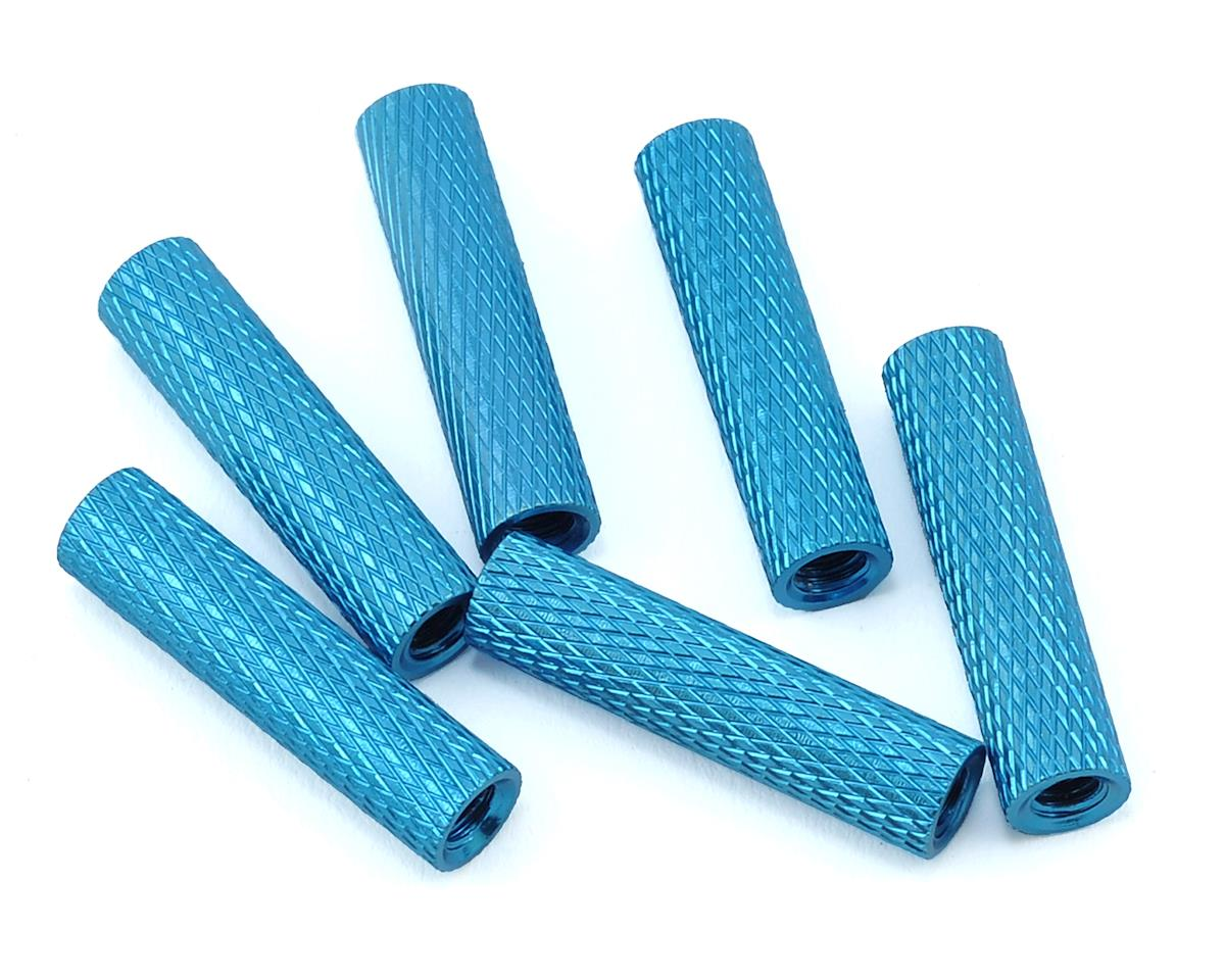 20mm Aluminum Textured Spacers (6) (Blue) by Lumenier