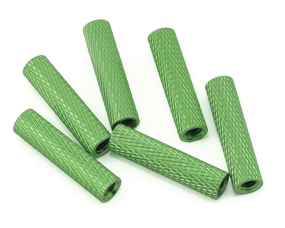20mm Aluminum Textured Spacers (6) (Green) by Lumenier