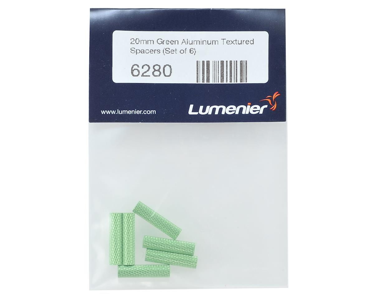 Lumenier 20mm Aluminum Textured Spacers (6) (Green)