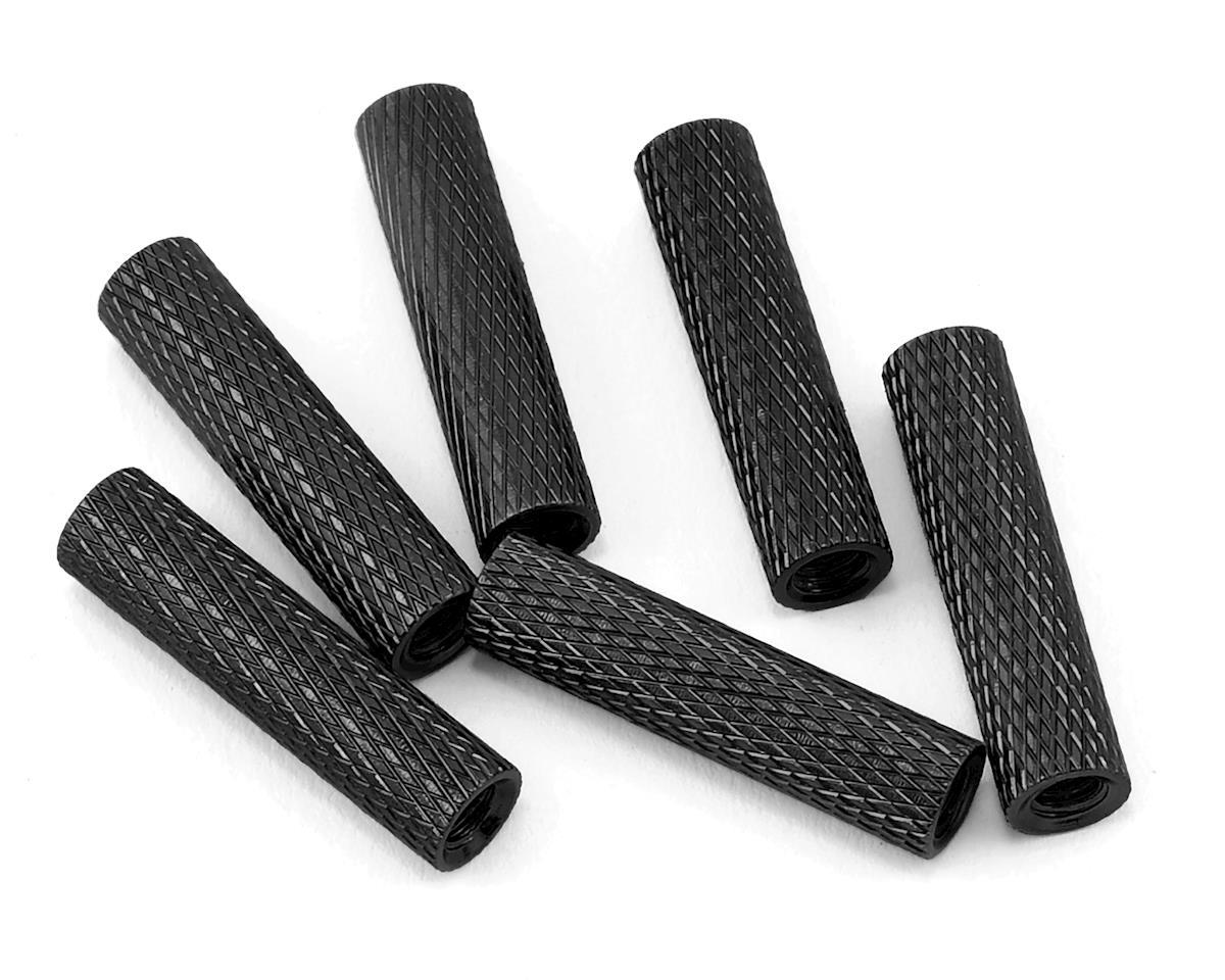 20mm Aluminum Textured Spacers (6) (Black) by Lumenier