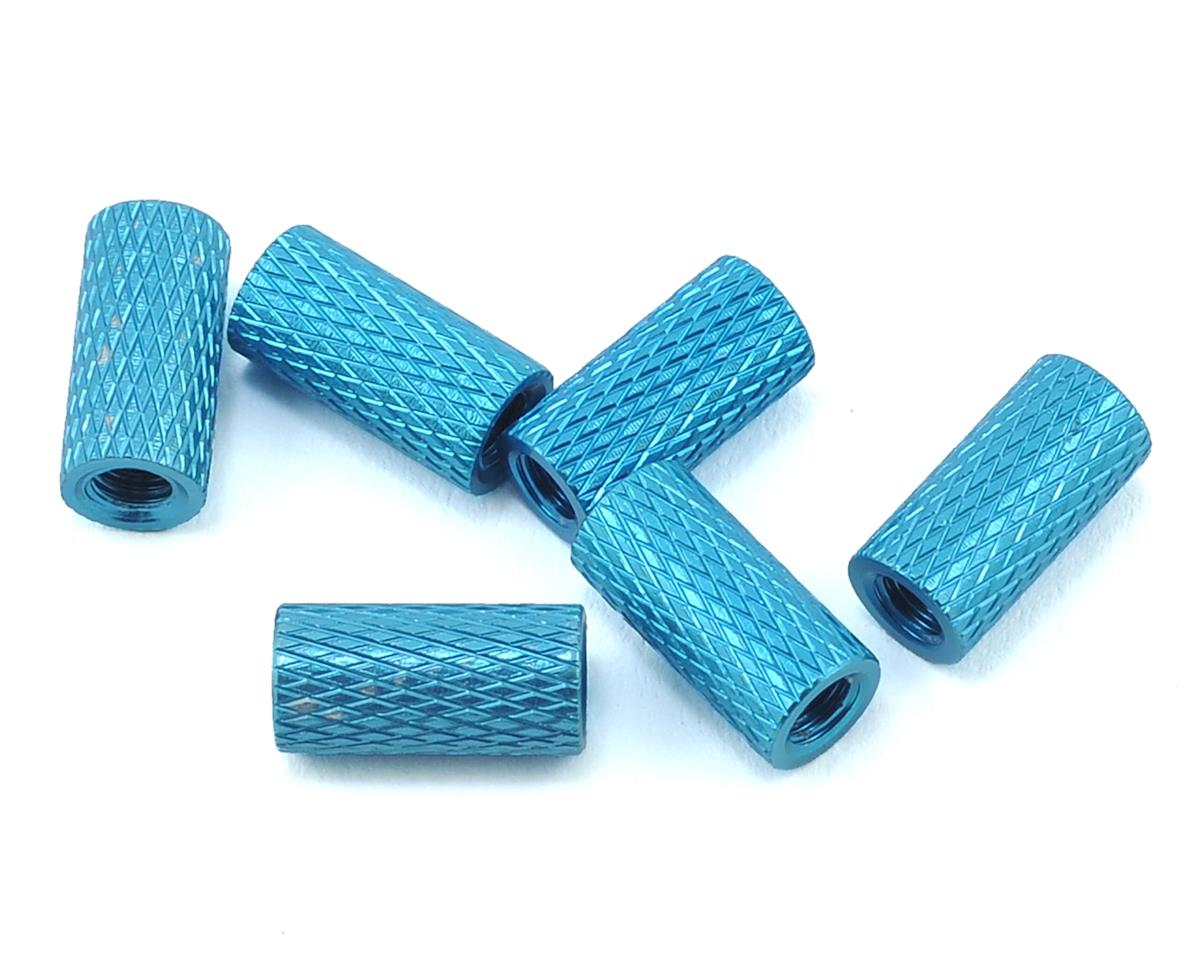 10mm Aluminum Textured Spacers (6) (Blue) by Lumenier