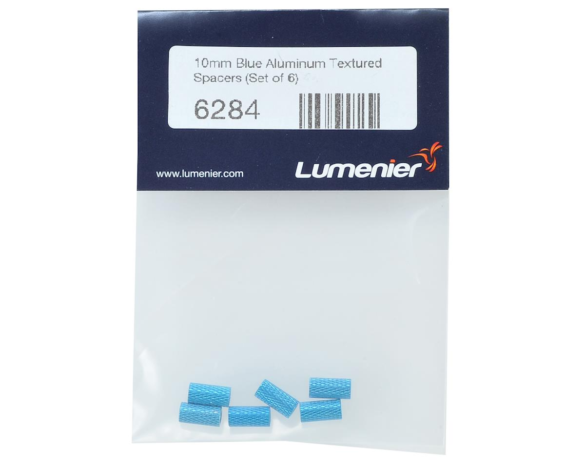 Lumenier 10mm Aluminum Textured Spacers (6) (Blue)
