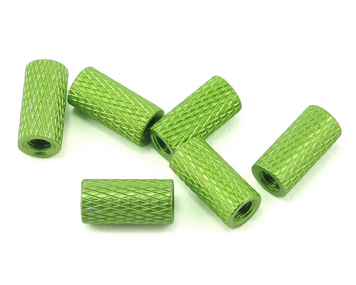 10mm Aluminum Textured Spacers (6) (Green)