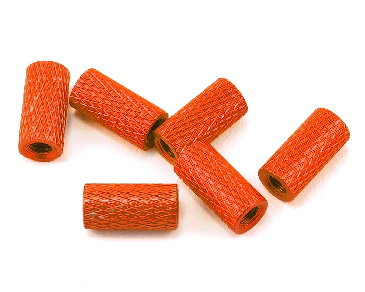 Lumenier 10mm Aluminum Textured Spacers (6) (Orange)