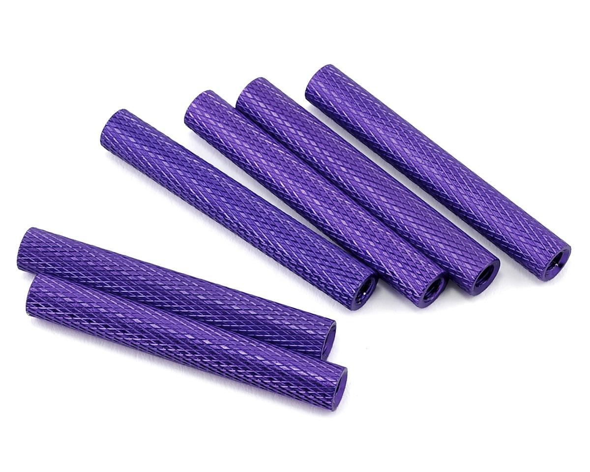 Lumenier 35mm Aluminum Textured Spacers (6) (Dark Purple)