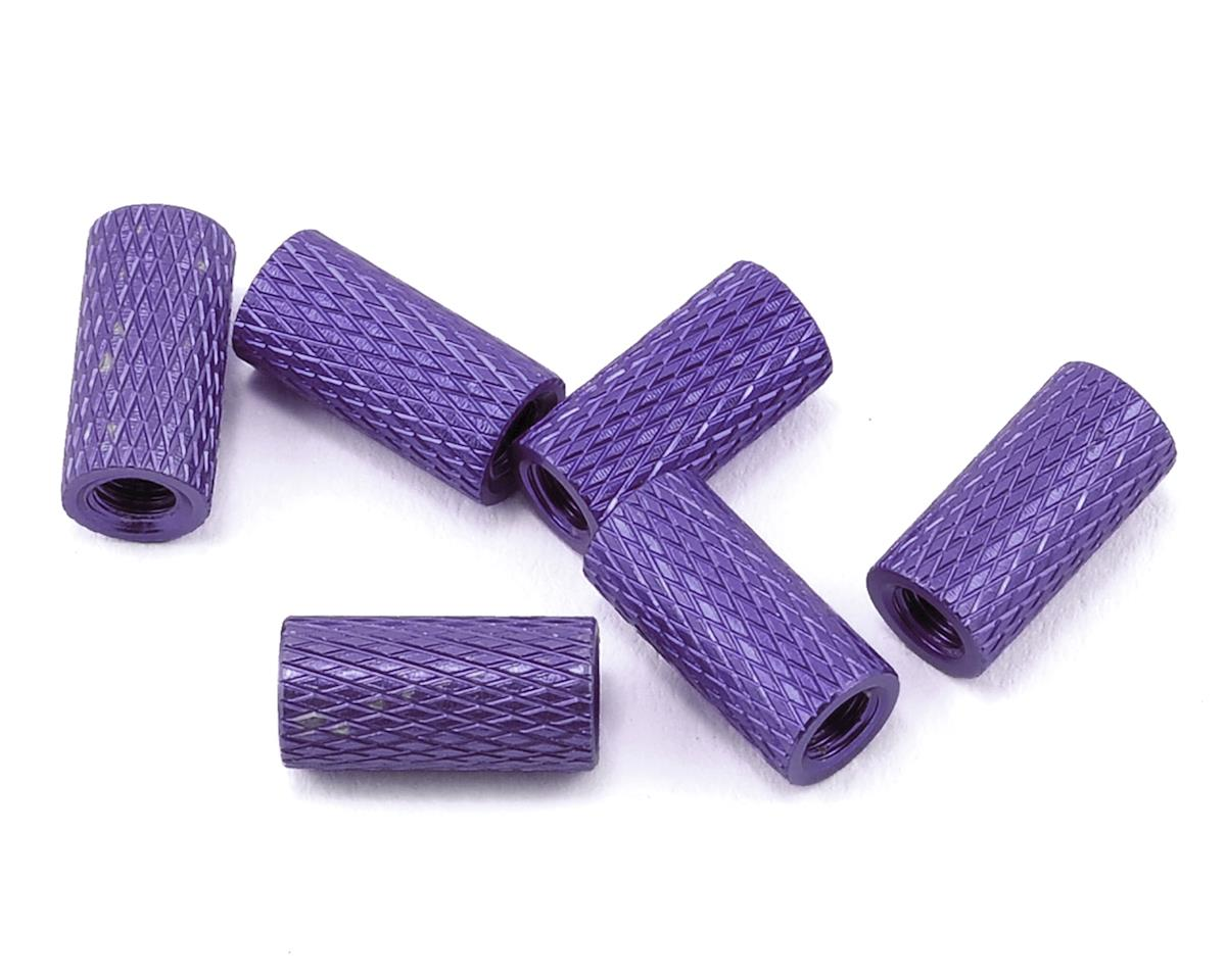 Lumenier 10mm Aluminum Textured Spacers (6) (Dark Purple)