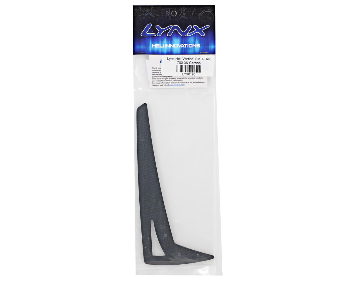 Lynx Heli 2mm Carbon Fiber Vertical Tail Fin