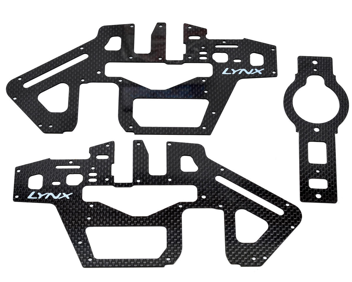 Lynx Heli T-Rex 450 Pro 3S Carbon Frame Panel Set