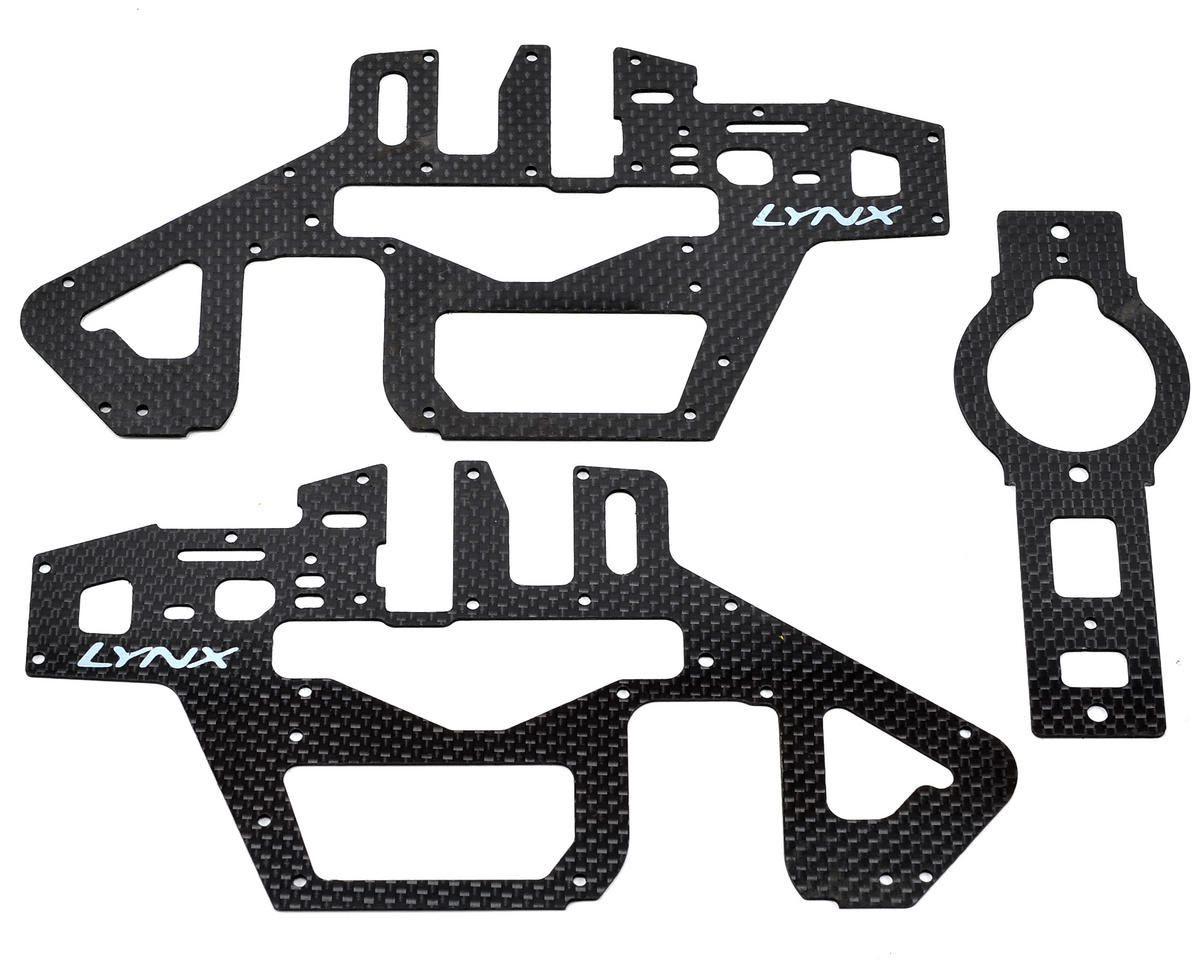 Lynx Heli T Rex 450 Pro 6S Carbon Frame Panel Set