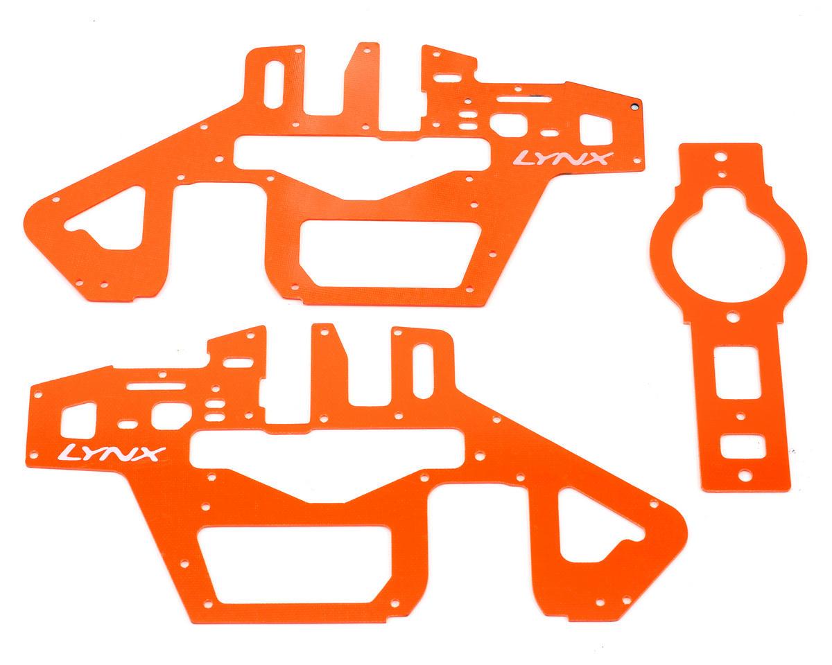 Lynx Heli T Rex 450 Pro 6S G10 Frame Panel Set (Orange)