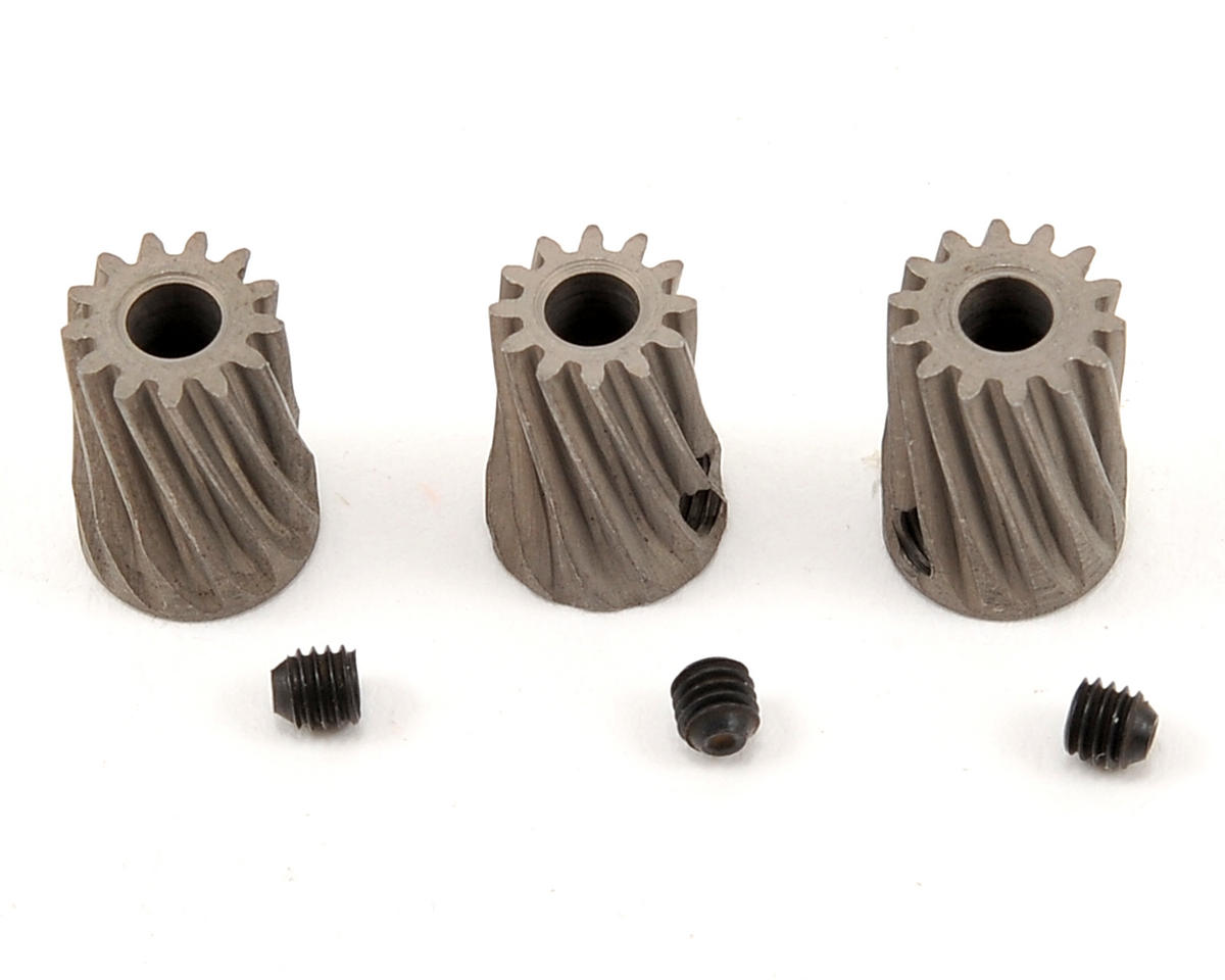 Steel MOD 0.5 Slant Pinion Set (300 X/450 X) by Lynx Heli