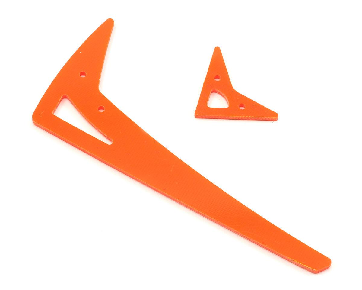 Lynx Heli Blade 300X/300CFX G10 Vertical Fin Set (Orange)