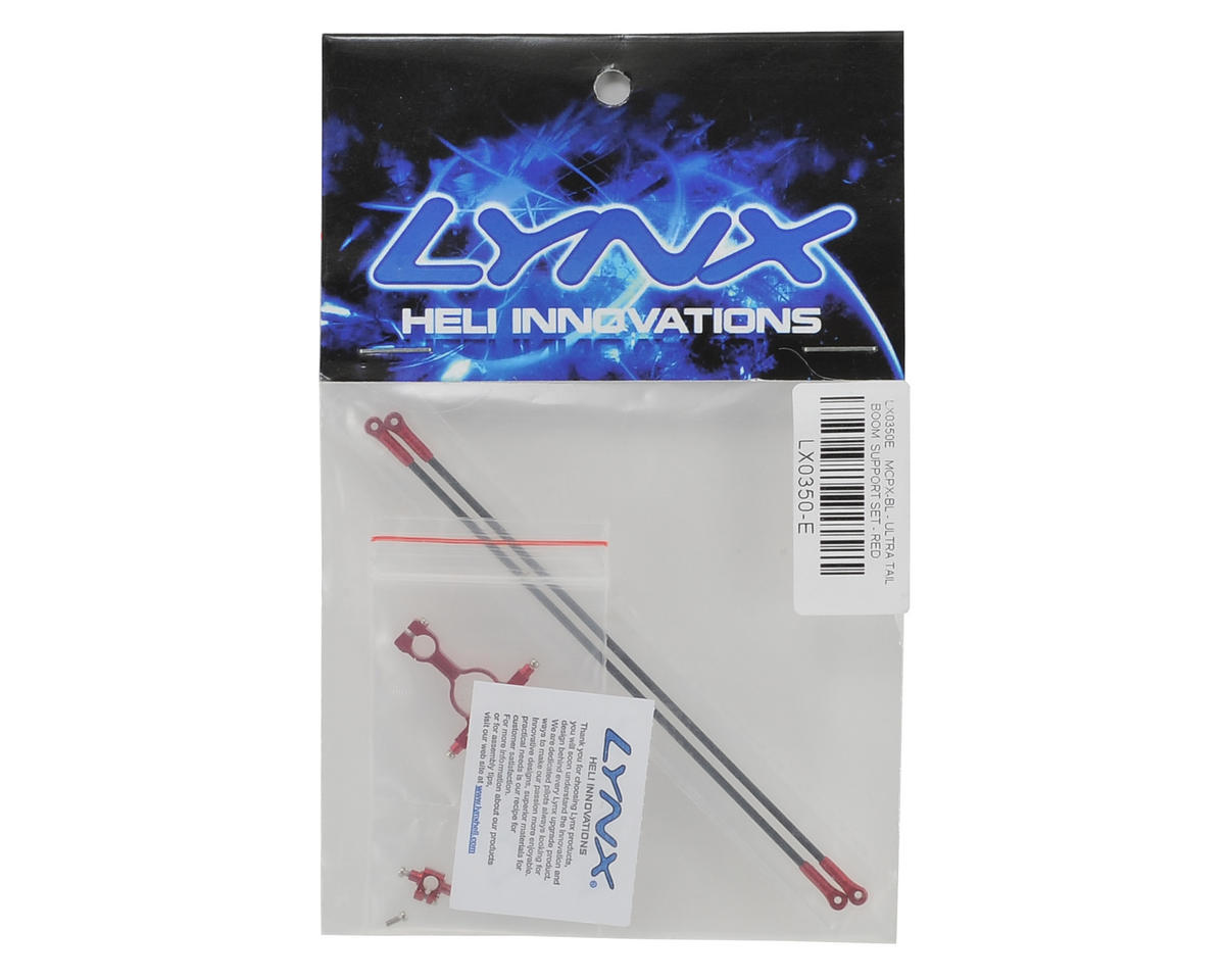 Lynx Heli Blade mCPX BL Ultra Tail Boom Support Set (Red Devil Edition)