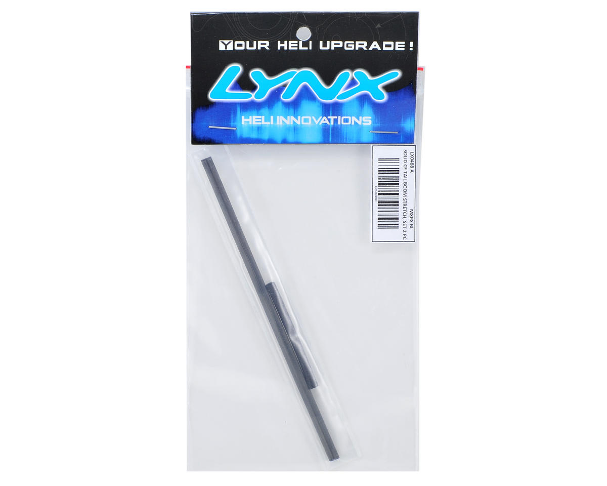 "Lynx Heli mCP X BL Solid Carbon Fiber ""Stretch"" Tail Boom Set (2)"