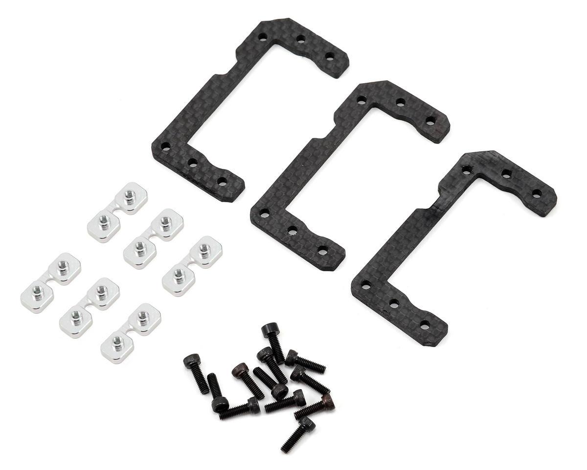 Lynx Heli Goblin 500 Standard Size Cyclic Servo Support Set (Silver)