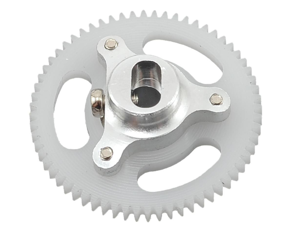 Lynx Heli Blade mCP X BL Ultra Main Gear Hub Set (64T) (Silver)
