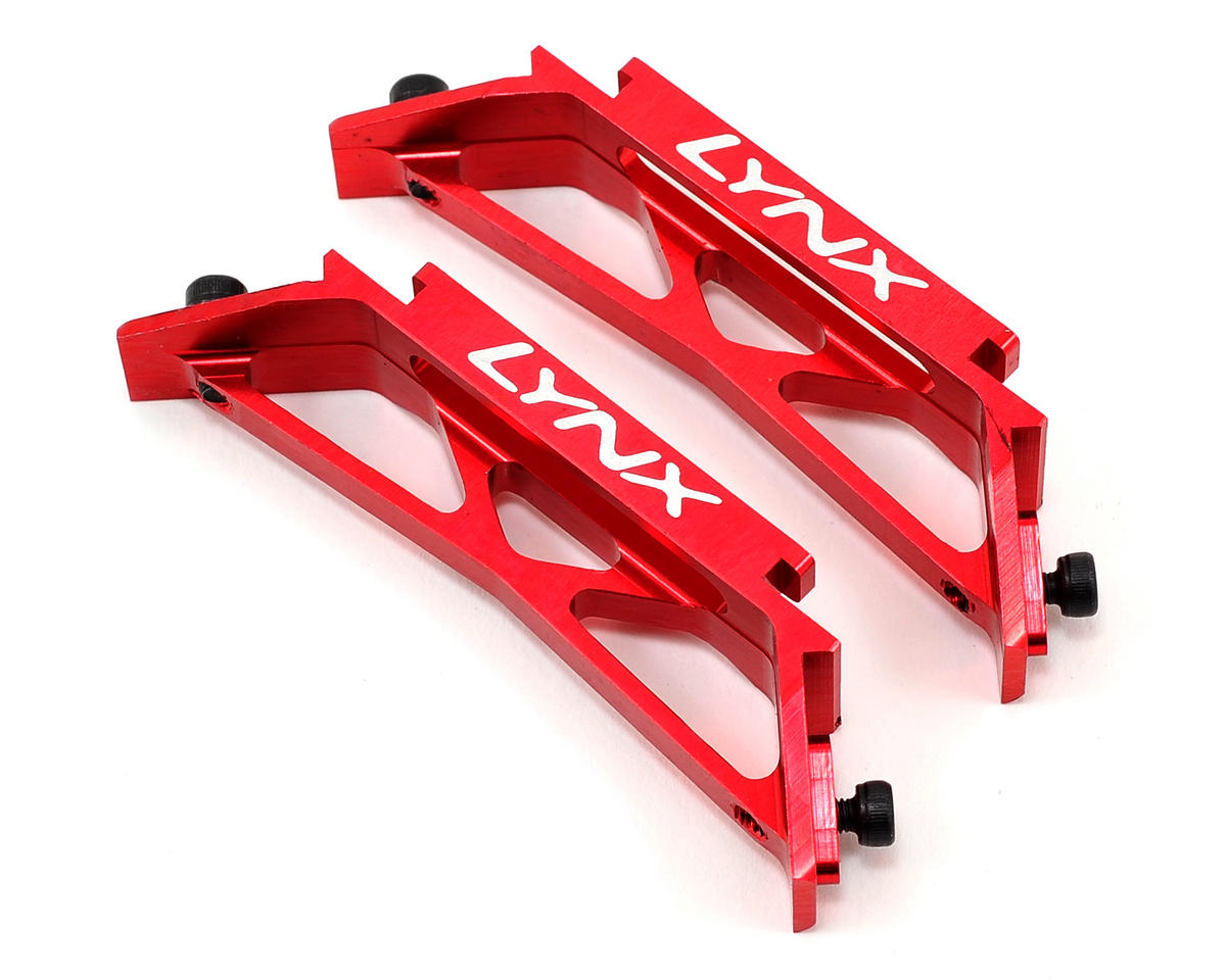Lynx Heli Goblin 500 Ultra Landing Gear Support (Red)
